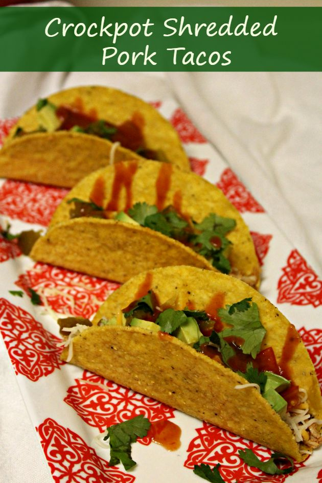 If you are looking for a Cinco de Mayo inspired recipe, these crockpot shredded pork tacos using Old El Paso ingredients is perfect!
