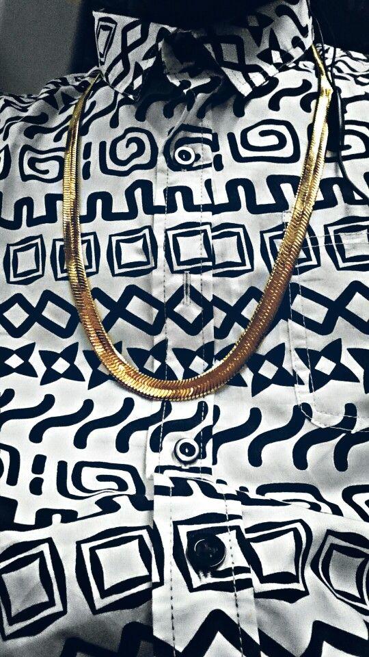 Taylor Gang shirt × gold chain