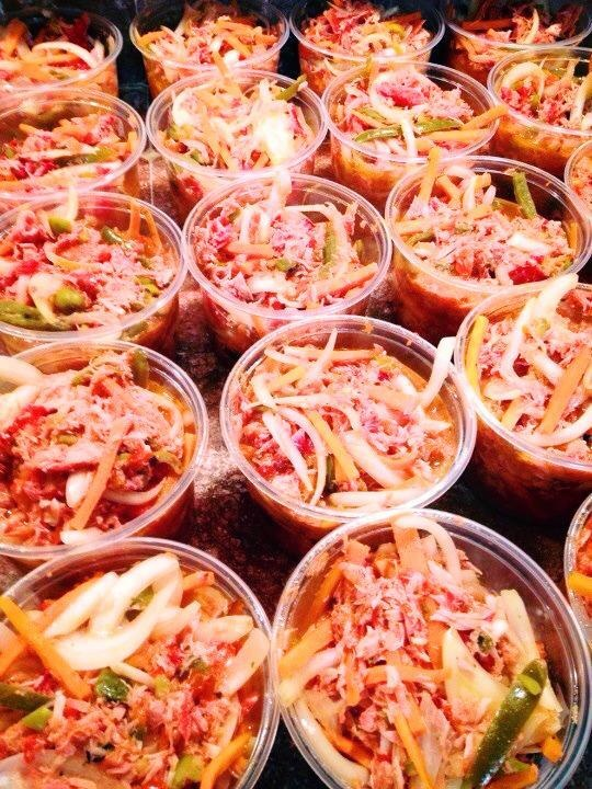 Escabeche de Marlin Ahumado (Escabeche of Pickled Marlin) from https://www.facebook.com/LasTresVirgenes