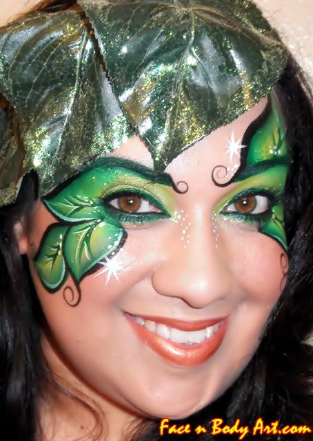 I had never thought to do leaves around the eyes without lowers... great idea!