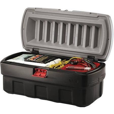 Get The Weather Resistant And Stackable Action Packer Storage Box From Rubbermaid For All Your Large Needs