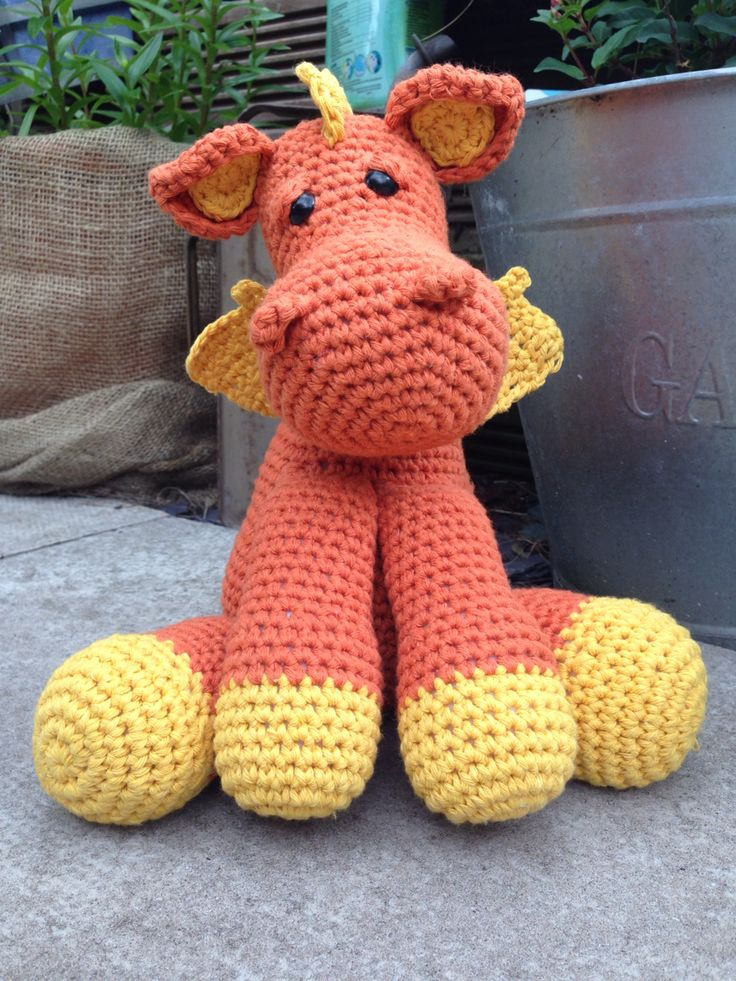 Dave the dragon my new pattern ..out soon