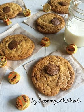 Chewy Reese's Peanut Butter Chocolate Cookies