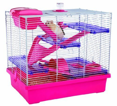 Rosewood Pico Hamster Cage, Extra Large, Pink by ROSEWOOD ...  Rosewood Pico H...