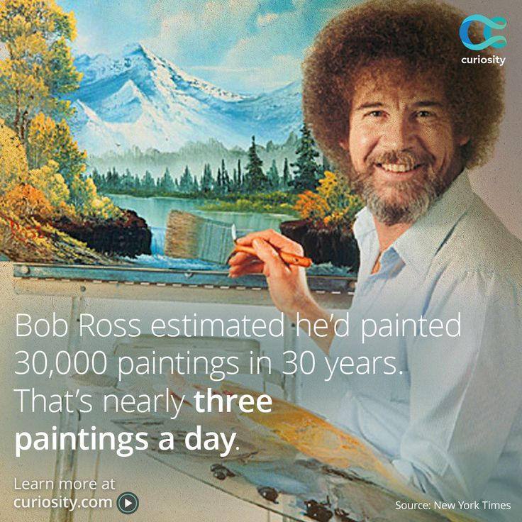 bob ross instructional book
