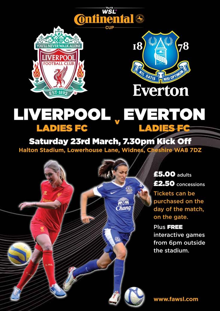 Liverpool Ladies v Everton Ladies. Halton Stadium 23rd March