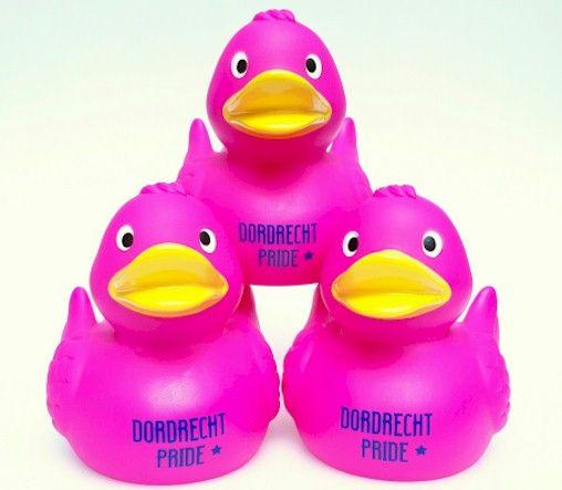 Badeend Ducky 7,5 cm DR roze (bij 100: Eur 1,50)