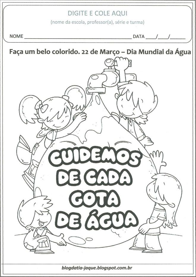 Agua Colorir Atividades Para Educacao Infantil Dia Da Agua E