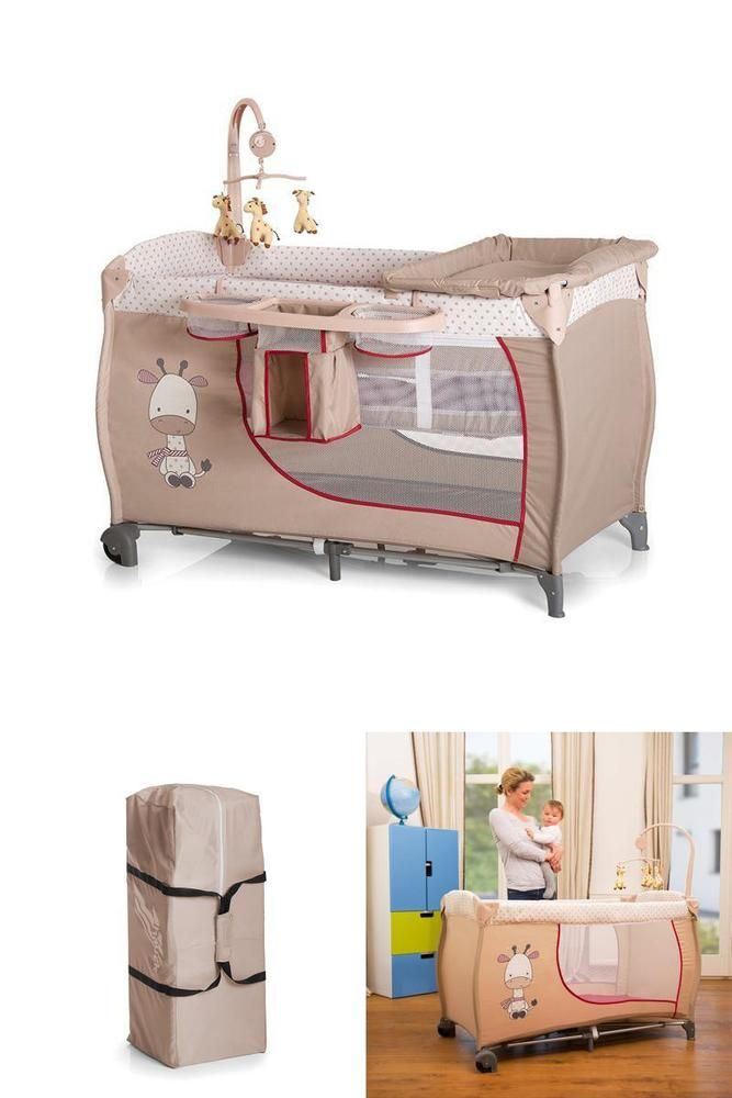 Rectangular Baby Travel Cot Play Center Changing Mat Mobile Diapers Organizer