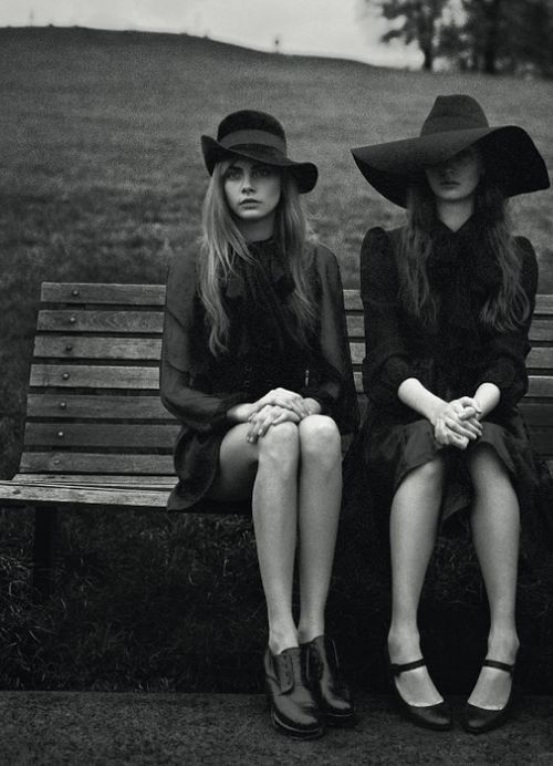 Cara Delevingne and Codie Young photographed by Richard Bush for i-D, Pre-Spring 2013