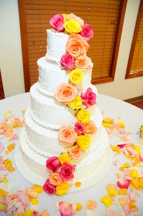red orange and yellow wedding cakes 38 best images about pink yellow coral on 19136