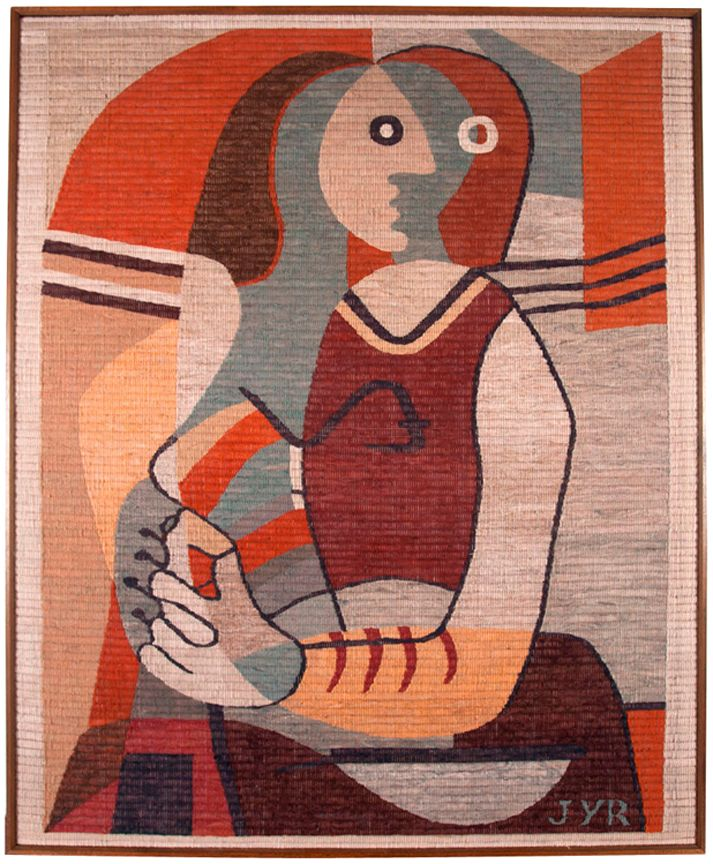 Hand-woven tapestry after Picasso. via Archive, Laguna Beach