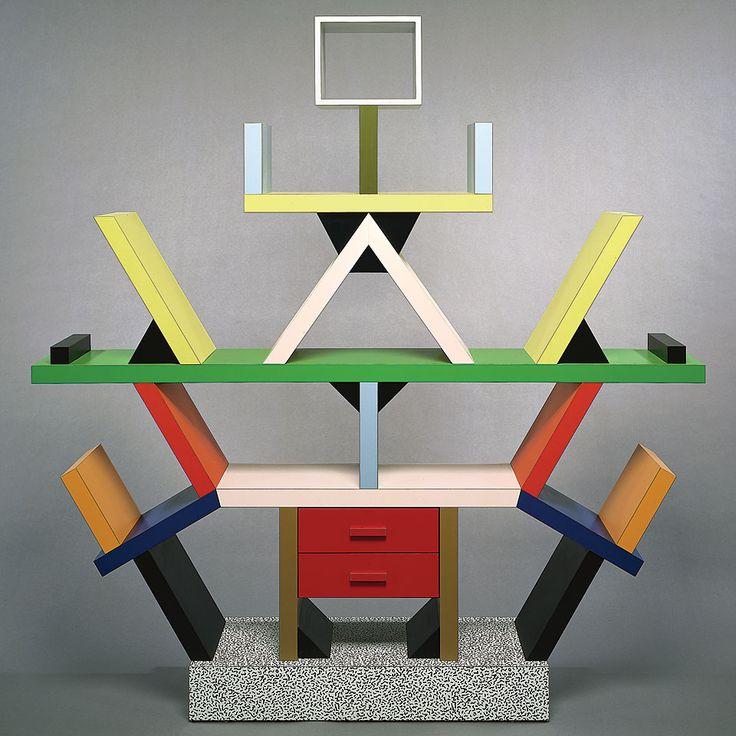 Ettore Sottsass (designer), book case, 1981.