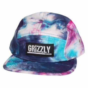 Grizzly Griptape Grizzly Tie Dye 5 Panel Cap - Purple - Grizzly Griptape from Native Skate Store UK