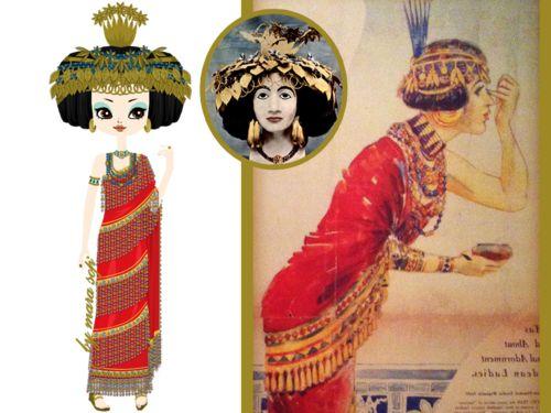 ca. 2600 BCE Puabi queen or priestess of Ur Sumeria ...