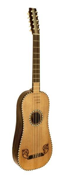 Fünfchörige Barockgitarre  #Frankreich (#Paris?), 2. Hälfte 17. Jh. Korpus Fichte, Ebenholz und #Elfenbein Wirbel Elfenbein #instrument #music #history #geschichte #basel #schweiz #switzerland #musik #museum #hmb