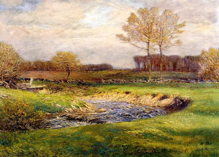 The Athenaeum - The Brook in May (Dwight W. Tryon - )