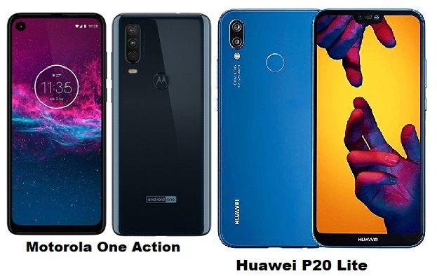 Motorola One Action Vs Huawei P20 Lite Specs Comparison Motorola Huawei Android One