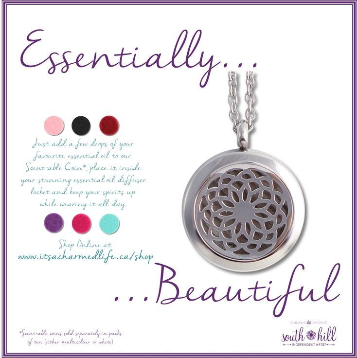 Pair our gorgeous new Essential Oil Locket with your favourite scent! #scent-sible #shdcharmedlife #shdnewproducts #essentialoils #newlocket