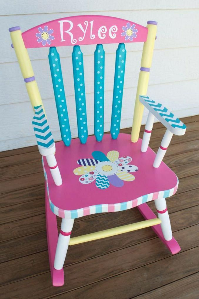 Toddler Chair With Name Stuhlede Com Painted Chairs Kids Rocking Chair Painted Rocking Chairs