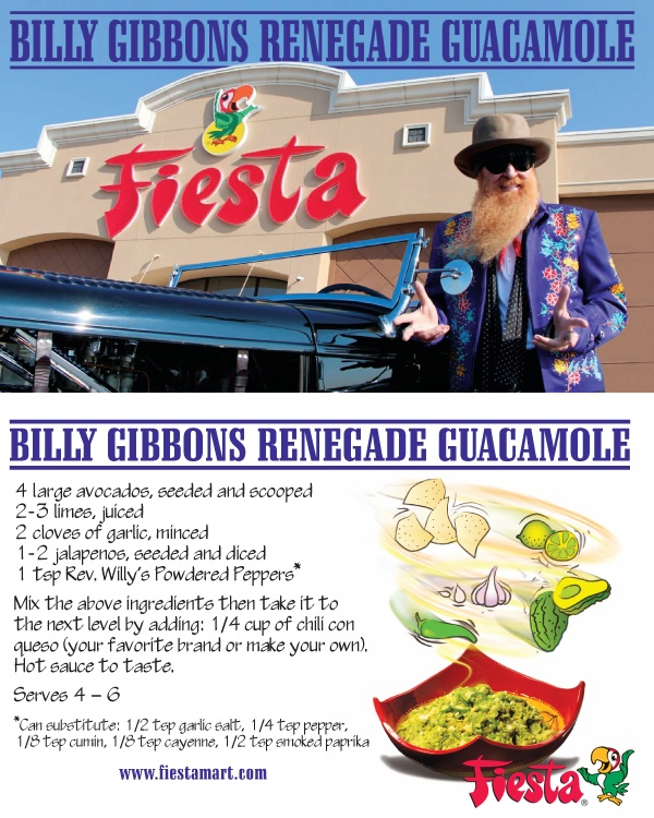 Try This Delicious Guacamole Recipe From Billy Gibbons And