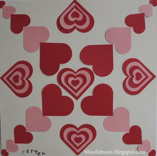 Symmetrical Valentine Art Project For Kids