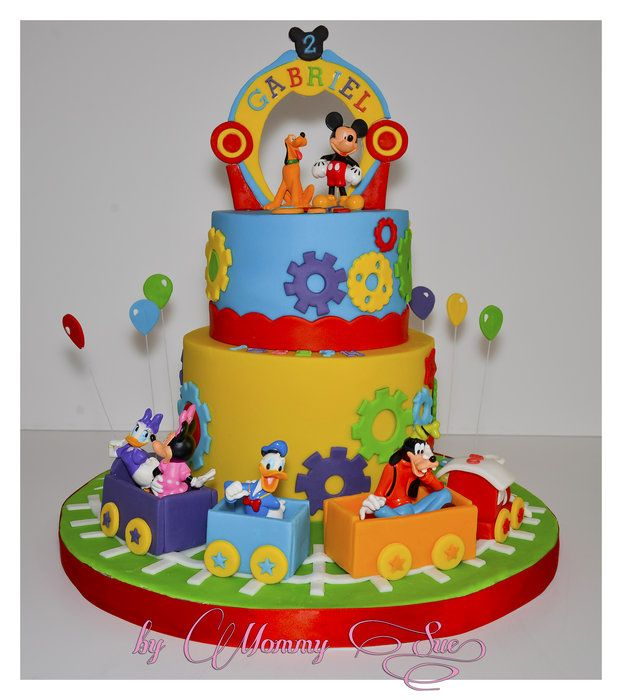Mickey Mouse Clubhouse Cake - by JASCakebyMommySue @ CakesDecor.com - cake decorating website