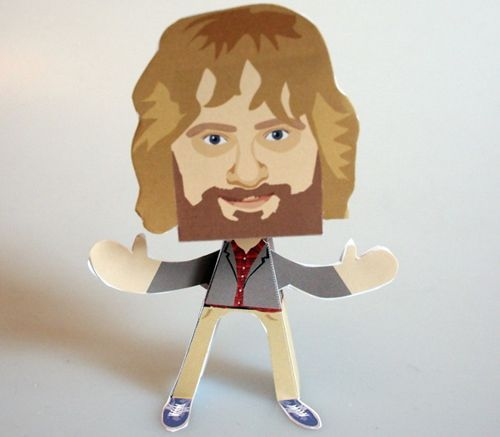 Justin Lee Collins Paper People Free Paper Toy Download - http://www.papercraftsquare.com/justin-lee-collins-paper-people-free-paper-toy-download.html#JustinLeeCollins, #PaperPeople