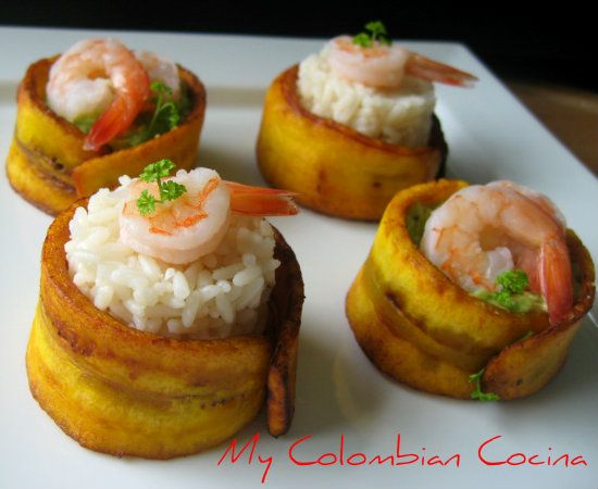 Pasabocas de Platanos or Appetizers of Plantain