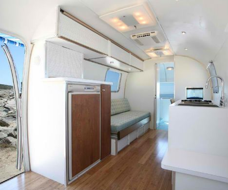airstream campers remodel | Vintage Airstream Trailers Remodeled into Bright Homes | WebEcoist