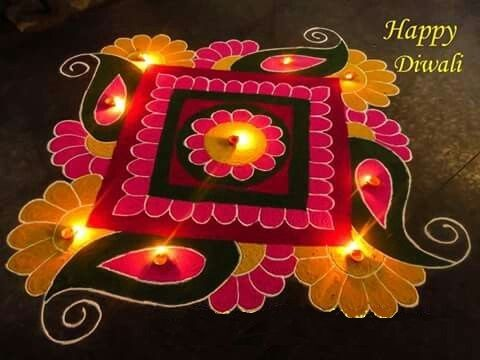 110+ Best Rangoli Designs, patterns Simple & easy for Diwali - Part 8