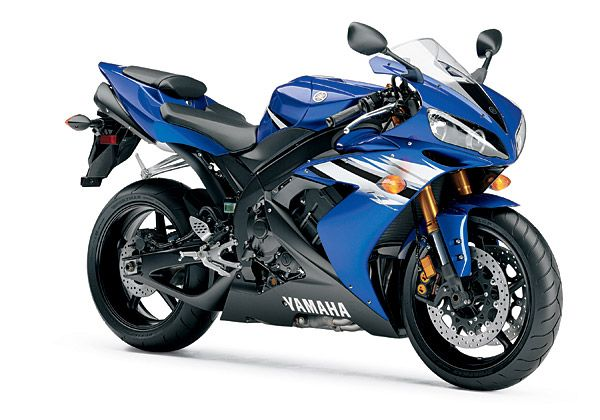 Yamaha YZF R1: 186 mph (297 km/h)      This motorcycle is coming from Japan. It's manufactured by Yamaha. The engine used is Forward Inclined Parallel 4-cylinder, 20 valves, DOHC, liquid-cooled. This motorcycle can reach top speed of 186 mph (297 km/h). While on top speed, it can produce 128.2 horsepower (95.6 kW) at 10000 rpm. The transmissions system is using constant mesh 6 speed.