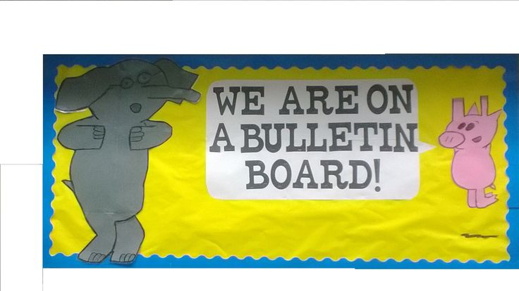 Not only are Mo Willems' Elephant and Piggy in books, but they are on our bulletin board this fall.
