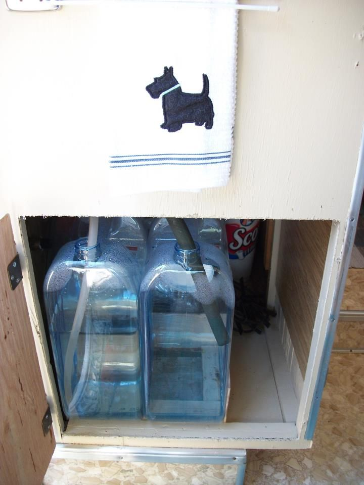 Super Easy Water System For Travel Trailer 2 Water Jugs