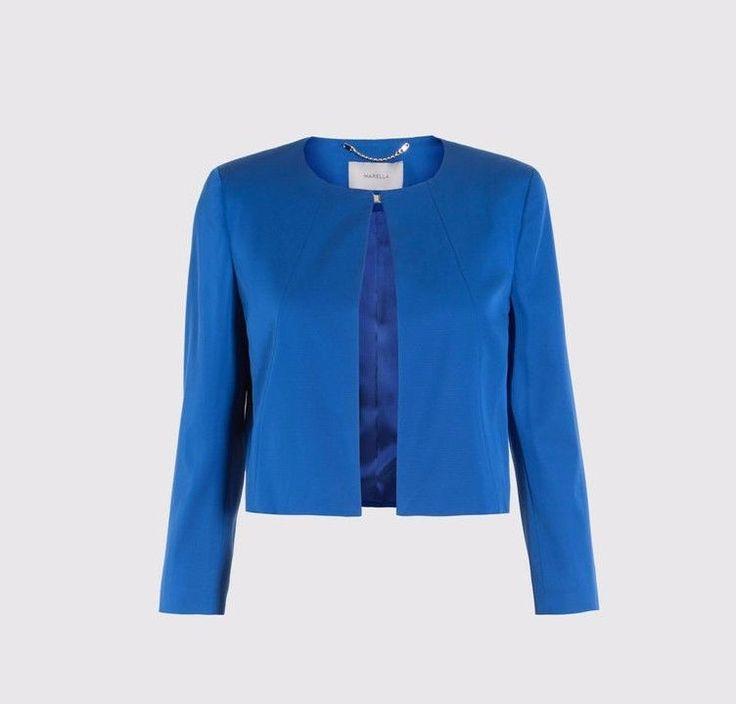Marella ( Max Mara)  Cuffia Cornfower Blue short Jacket NEW was £185 #Marella #Blazers
