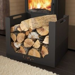 Contemporary Log Basket