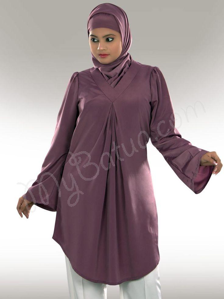 Sairish Purple Tunic - mybatua.com
