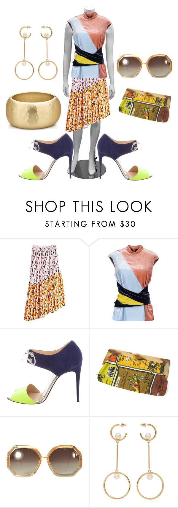 """""""Untitled #9042"""" by billyblaze ❤ liked on Polyvore featuring Kenzo, Cédric Charlier, Christian Louboutin, Ted Lapidus and Chloé"""