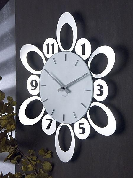 brandani 58738 orologio da parete numeri acciaio inox - OROLOGI DA PARETE E A CUCU - OROLOGI - OGGETTI DI CASA - benvenuto da TOPCASASHOP.IT...