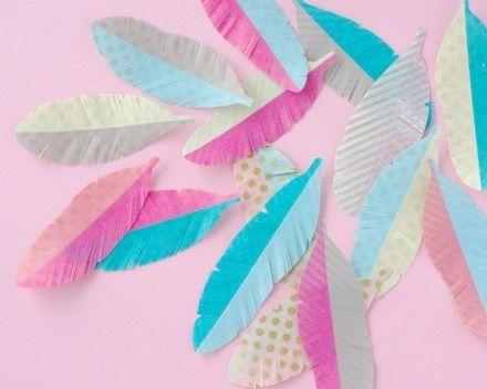 Tutorial | Washi Tape Feathers