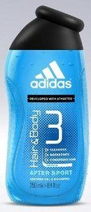 Adidas Hair and Body 3 - After Sport Shower Gel & Shampoo 8.4 Fl Oz - Developed with Athletes by adidas. $13.99. Adidas Hair and Body 3 - After Sport Shower Gel & Shampoo 8.4 Fl Oz - Developed with Athletes. Adidas Hair and Body 3 - After Sport Shower Gel & Shampoo 8.4 Fl Oz - Developed with Athletes