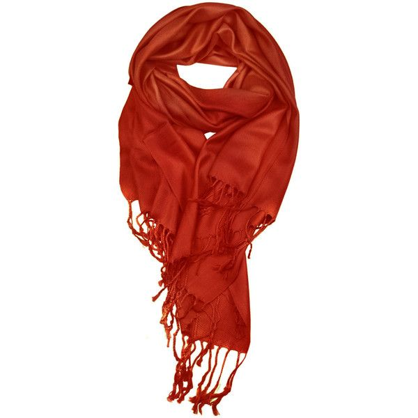 Rust Color Supersoft plain Pashmina Shawl - the perfect bridesmaid... ($7.99) ❤ liked on Polyvore featuring accessories, scarves and shawl scarves