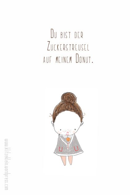 'You are the  sugar on my Donut' - Translated From German =D klitzekleine Donut Illustration