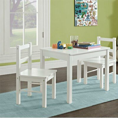 Viv Rae Suri Kids 3 Piece Table And Chair Set In 2020 Kids