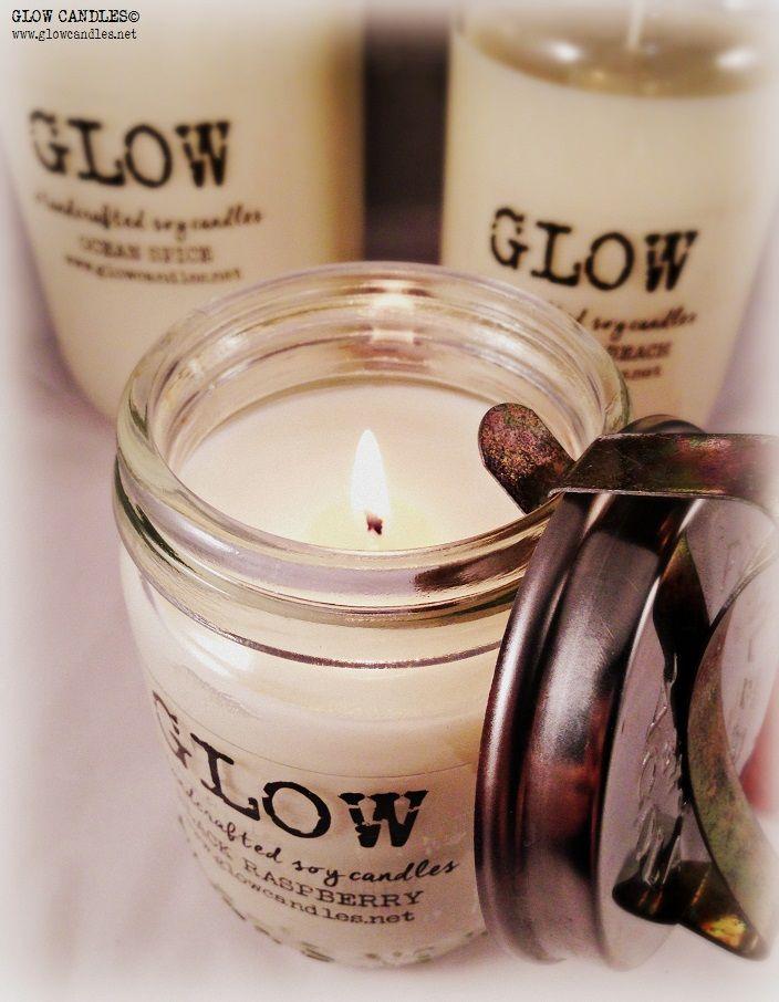 Fowlers jar soy candles.  www.glowcandles.net