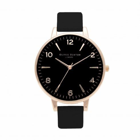 Modern Vintage Black Dial & Rose Gold | Olivia Burton London
