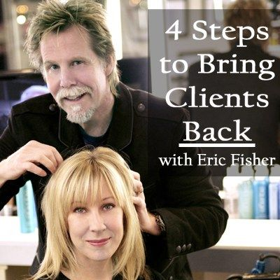 """""""20 percentof your clients make up 80 percentof your business,"""" notes Eric Fisher, owner of award-winning Eric Fisher Salons & Academy in Wichita, Kan. Everyone loses clients. It's just a part of doing business, but to keep your 20 percentbase strong and growing, it important you try to bring back missing clients.In """"52 Weeks to … Continued"""