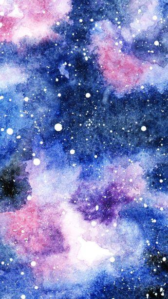 galaxie in aquarell ⋆ mädchenkunst  galaxie malerei acryl