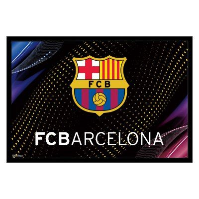 Trends International FC Barcelona Team Logo Wall Poster - FR13853BLK22X34