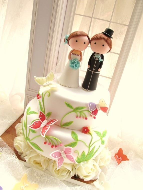 LOVE ANGELS Wedding Cake Topperlove bride and groom by kikuike, $350.00